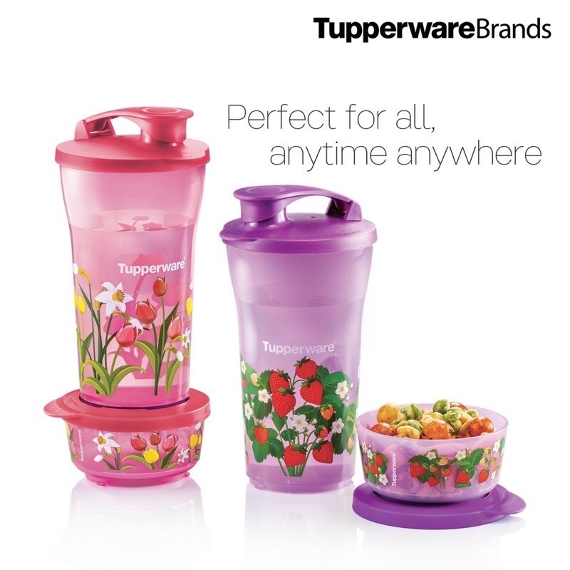 Ready Stock!Tupperware Quench & Snack Set HvwY