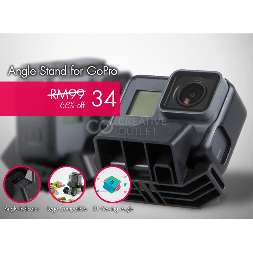 Slopes Black for GoPro HERO action camera 18 view angle shooting