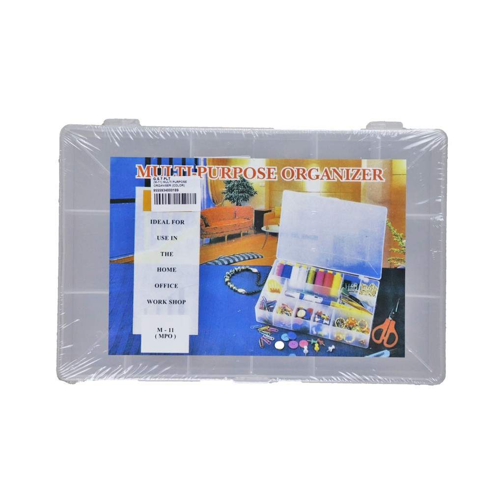 Multi Purpose Organiser (M-11) Visible Portable Plastic Storage Box for Medicine Jewellery for Home Office Workshop