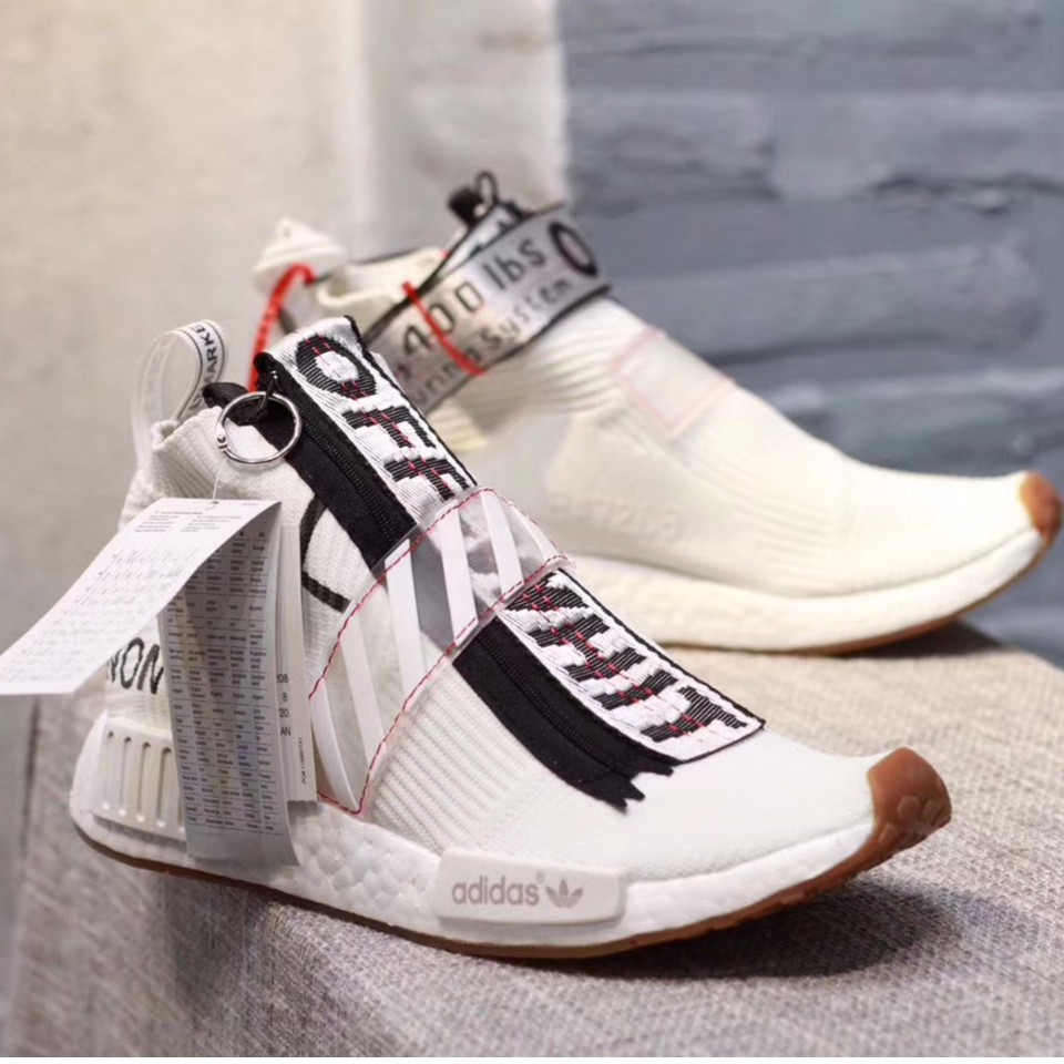 ??READY STOCK??adidas new style off white x adidas originals NMD city sock shoes
