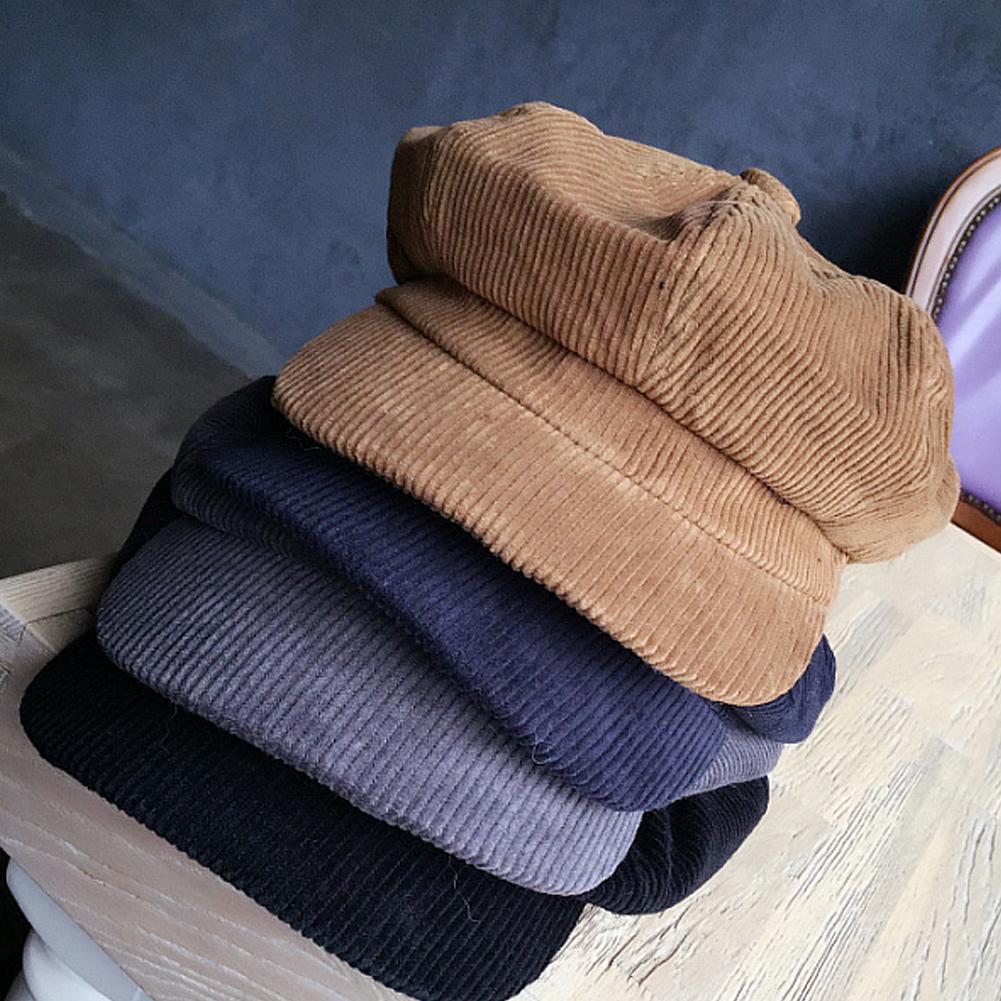da6c8908f Vintage Lady Women Winter Warm Corduroy Hat Baggy Beret Cap Top ...
