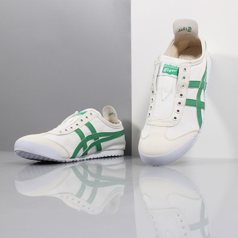 hot sale online bfb89 d6dbc Onitsuka Tiger shoes Asics men&women's shoes canvas sneakers white&green