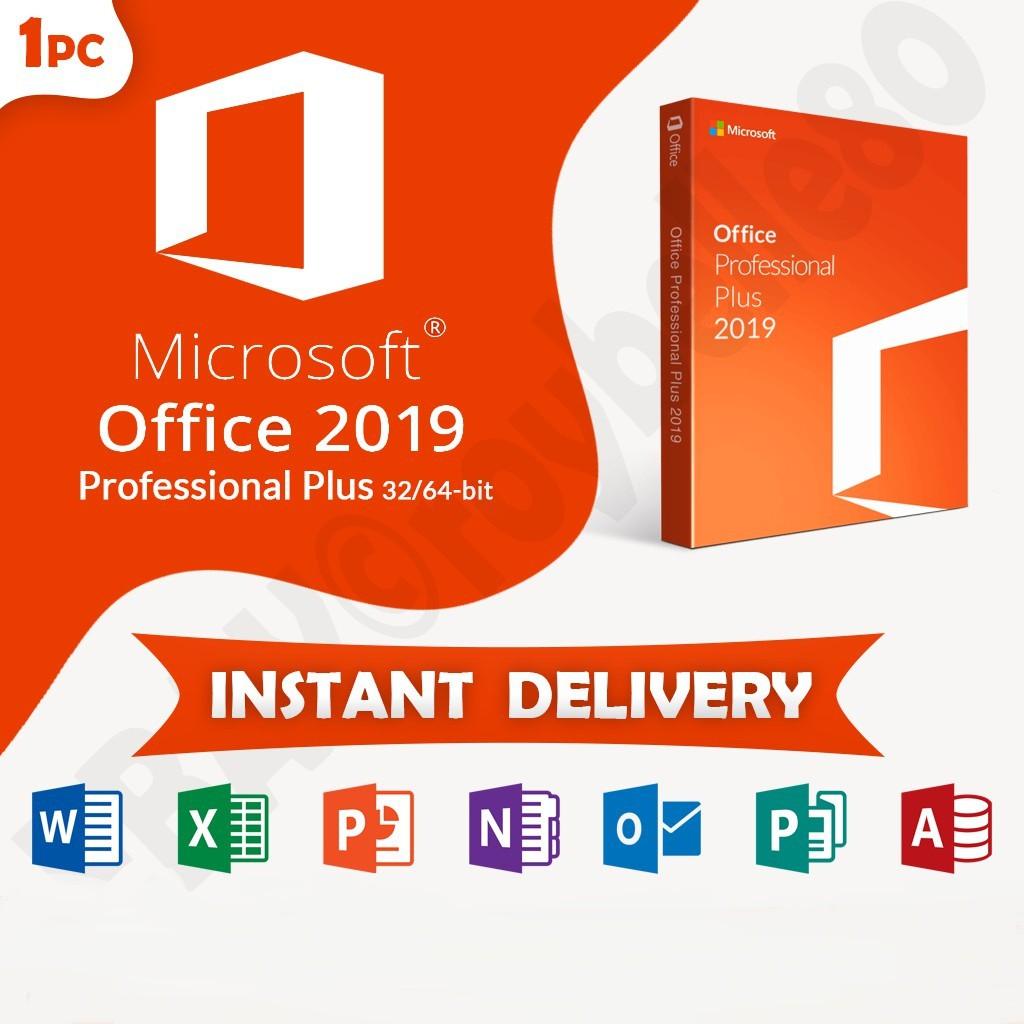 Microsoft Office 2019 / 2016 / 2013 / 365 Pro Plus Genuine Lifetime