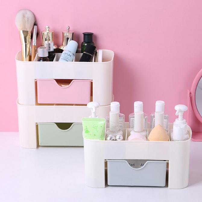 Cosmetic Storage Box Desk Organiser Kotak Kosmatic Kotak Simpan Makeup Box Brush Box Lipstick Eyeshadow Nail Container D