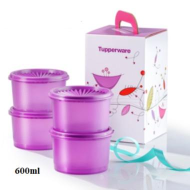 Tupperware: Mini Deco Canister Gift Set (4) 600ml /Loose