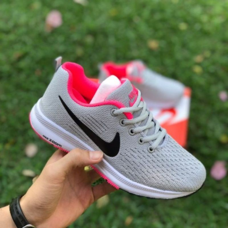desempleo Respectivamente humedad  READY STOCK NIKE ZOOM FLY GREY PINK WOMEN'S RUNNING SPORTS SHOES