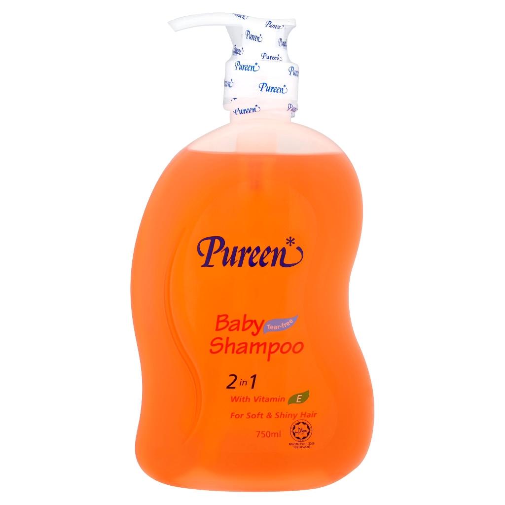 Pureen 2 In 1 Baby Shampoo 750ml