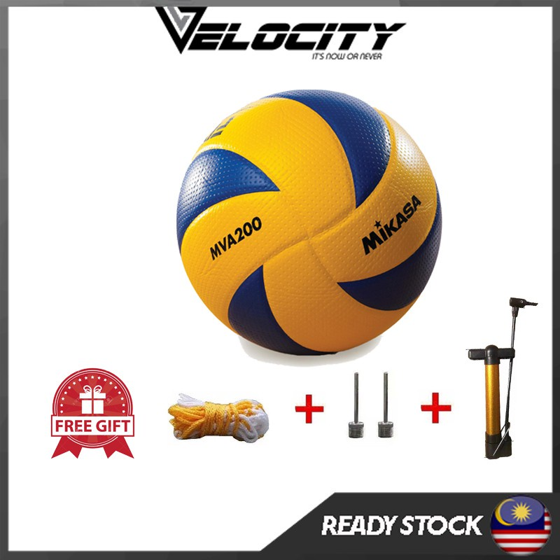 Bola Tampar Mikasa Volley Ball Mikasa MVA200 MVA300 PU Leather volley Ball Bola Tampar Kulit Tahan