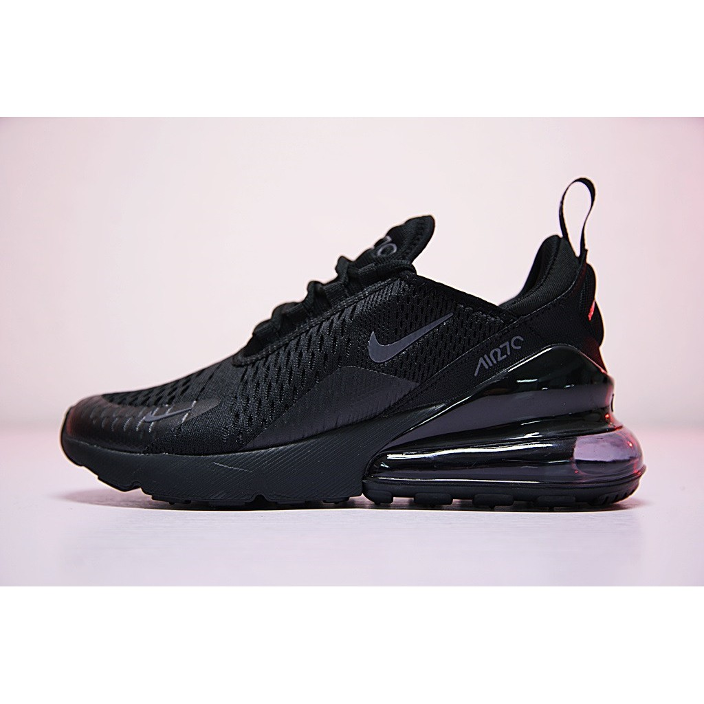brand new e37d3 adf09 [Ready Stock] Nike Air Max 27C 270 Leisure Running Shoes All Black Sapphire  blue | Shopee Malaysia