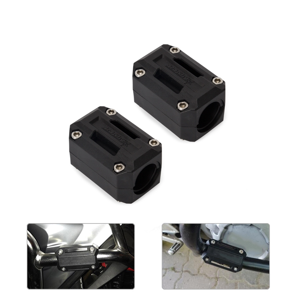 N A Bumper Decorative Motorcycle Engine Guard Protection Bumper Decorative Block For Hon-da Africa Twin CRF1000L NC700X VFR1200X Crosstourer Motorcycle Accessories Color : Black