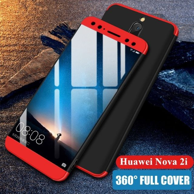 big sale eaaf7 75f0a HUAWEI NOVA 2i FULL COVER 3 IN1 PROTECTIVE ARMOR CASE 360 PROTECTER CASE