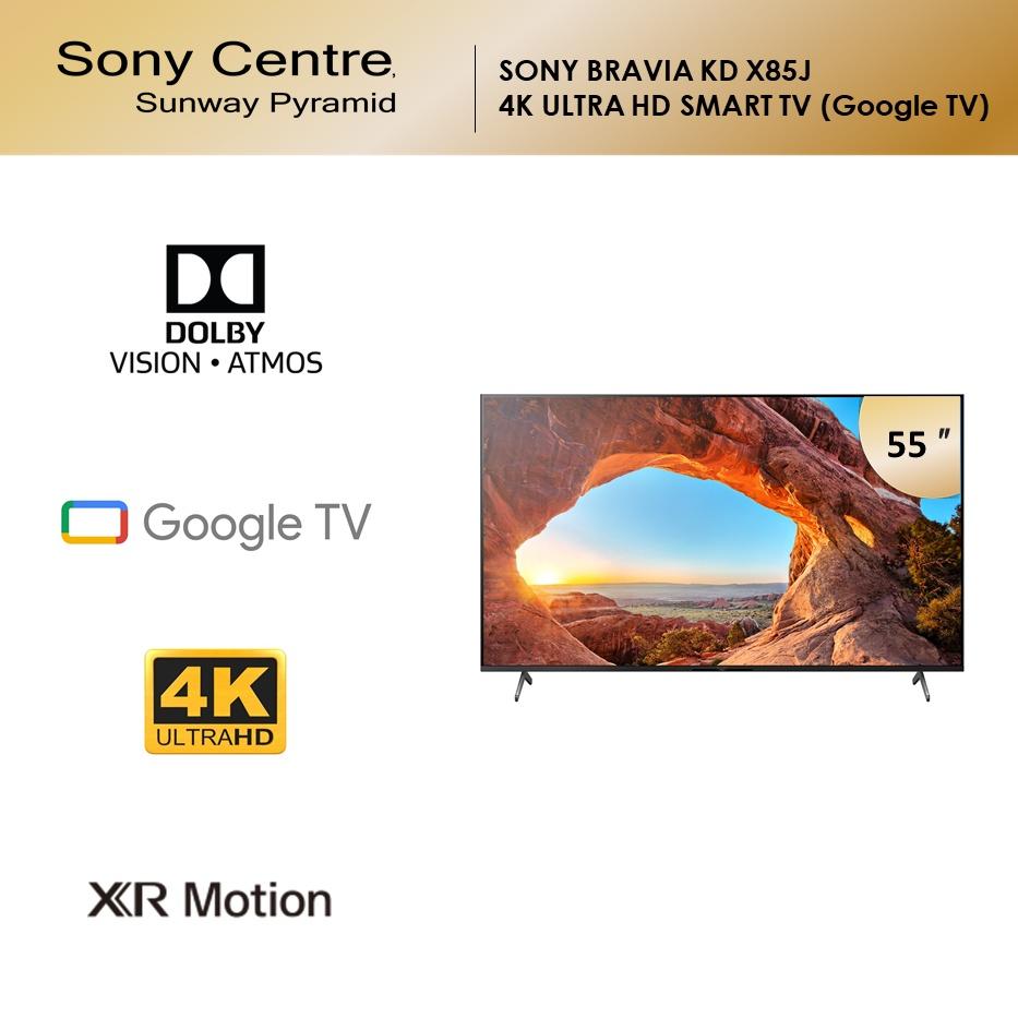 "SONY BRAVIA KD X85J Full Array LED 4K Ultra HD High Dynamic Range HDR Smart TV Google TV (55"") KD-55X85J"