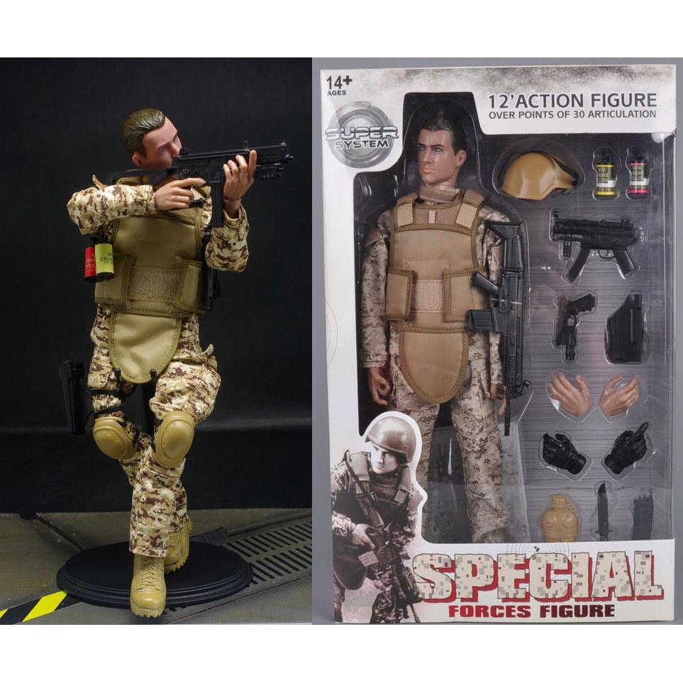 "12/"" 1//6 Toy Soldier Desert ACU Action Figure Soldier Dolls Military Suit Box"