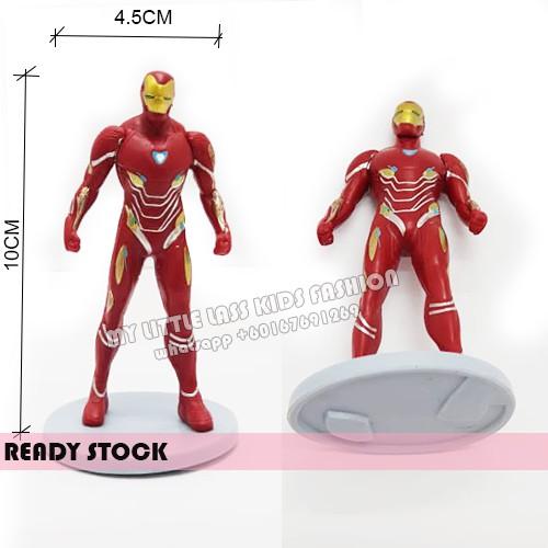 8Pcs Avengers Infinity PVC Figure Cake Topper Ironman Thanos Spiderman