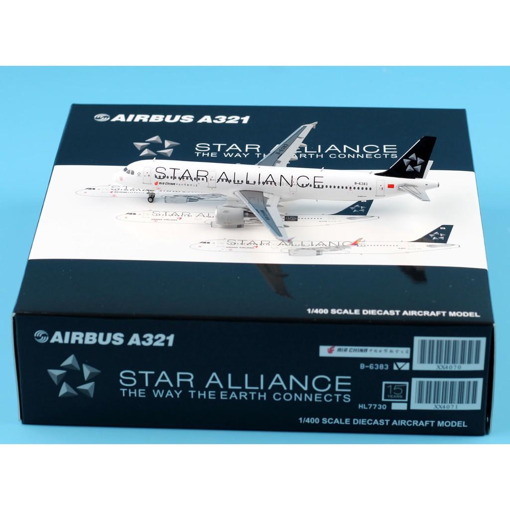 JC Wings XX4070 Air China A321 Star Alliance Reg:B-6383 Scale 1:400 JC Wing  Diecast