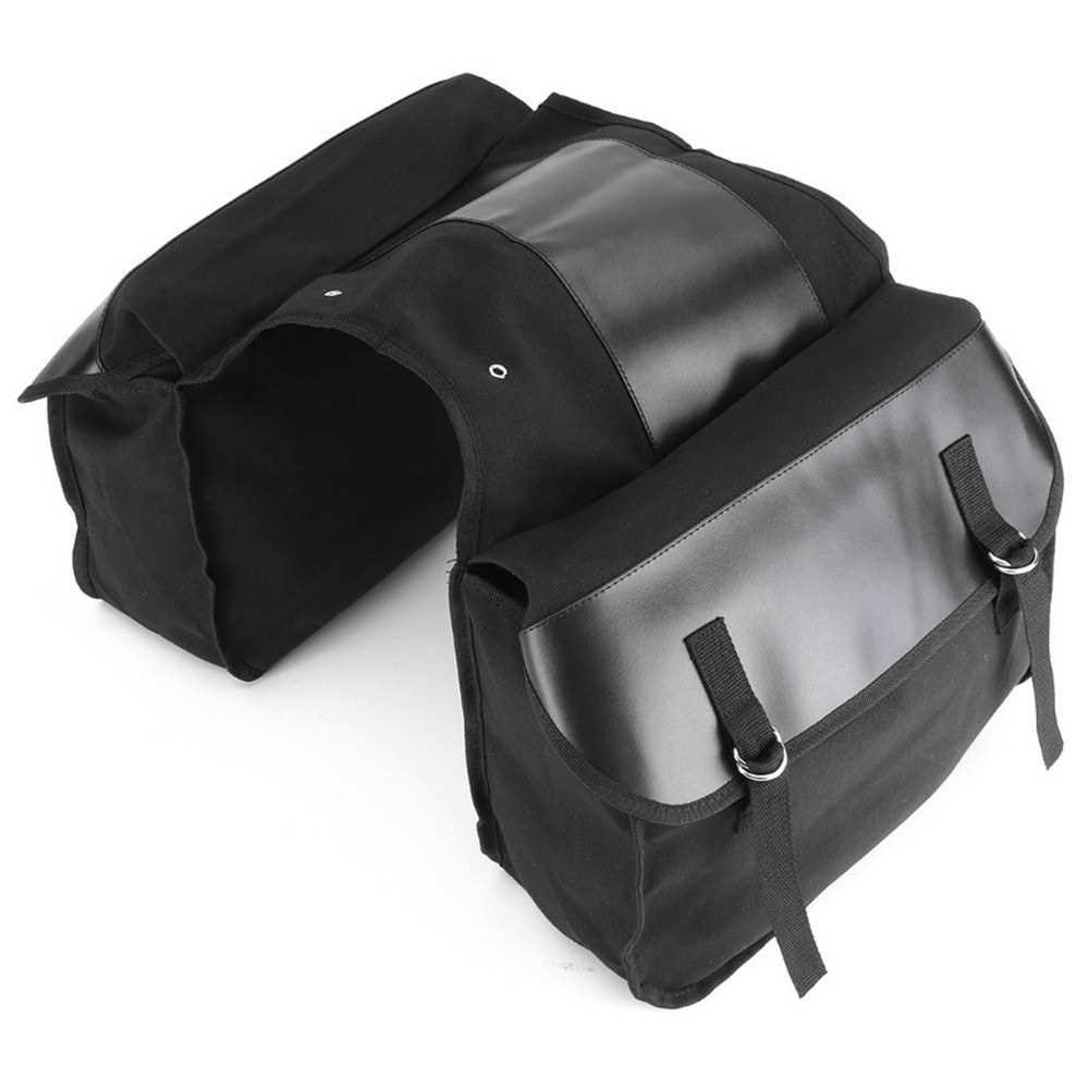 40L Bike Trunk Bag Bicycle Luggage Carrier Bag Cycling Bicycle Rack Rear Seat Bag Pannier (Black)