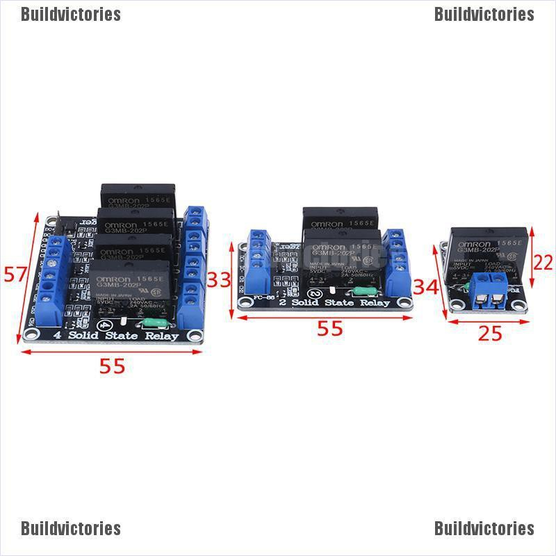 BDVS‖1/2/4 channel 5v dc relay module solid state low level relay SSR AVR  DSP