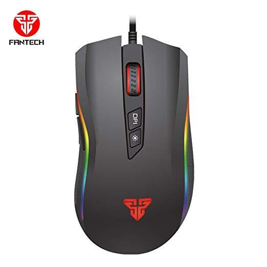 Fantech X4s Titan 4800DPI Seven Macro Programable Buttons USB Optical Macro Pro Gaming Mouse Running RGB Chroma Light