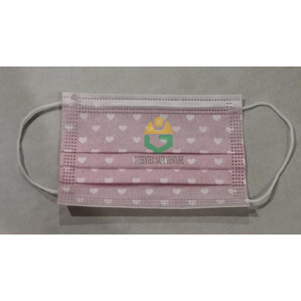 【Malaysia Ready Stock】50PCS Disposable 3 Ply Kids Mask Face Mask Earloop Kanak Topeng Muka 3 lapisan 小孩口罩