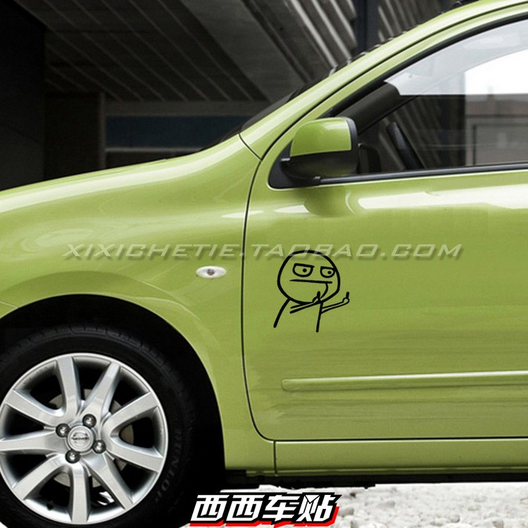 Black JDM Style Funny /& Personality Two Middle Finger HF Vinyl Car Decal Sticker