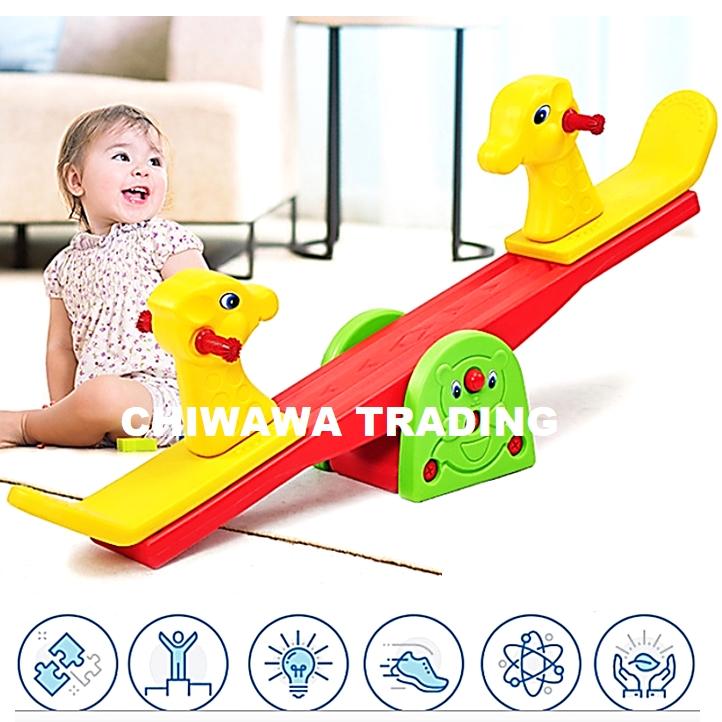 Seesaw Riding Rocking Pony Horse Animal Cartoon Kindergarten Toy For Baby Children Kid Jongkang Jongket