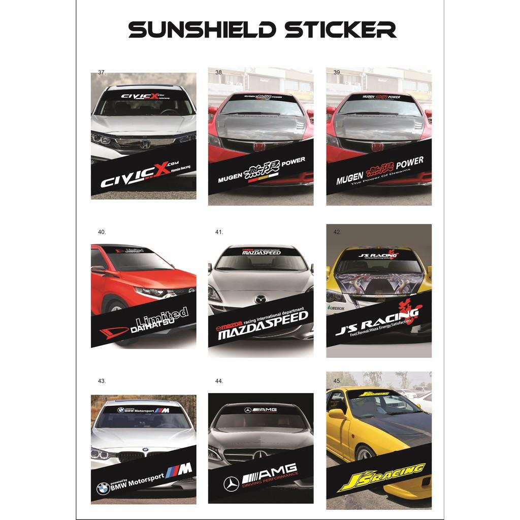 Universal Car Windscreen Sticker Front/Rear (132cm (L) x 25.5cm (W)(YS37-45)