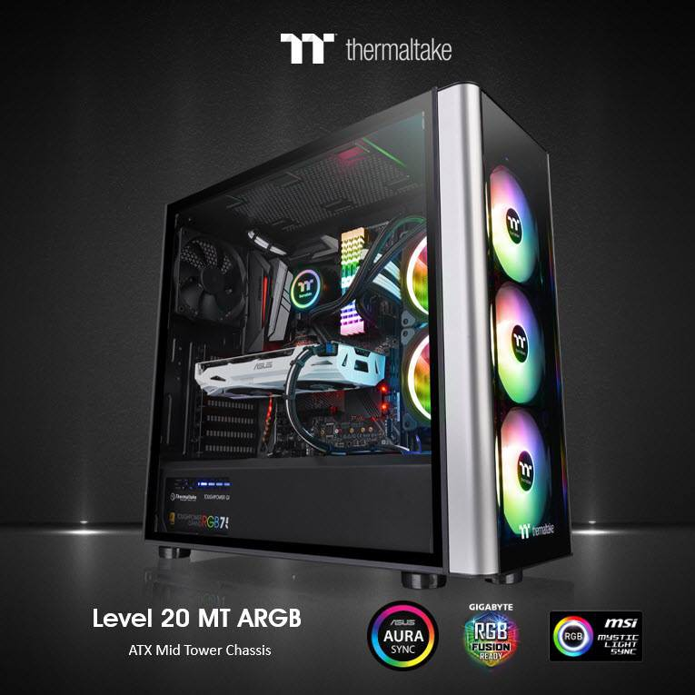 Thermaltake Level 20 MT | V250 TG ARGB Mid Tower Chassis (CA-1M7-00M1WN-00)  | Shopee Malaysia