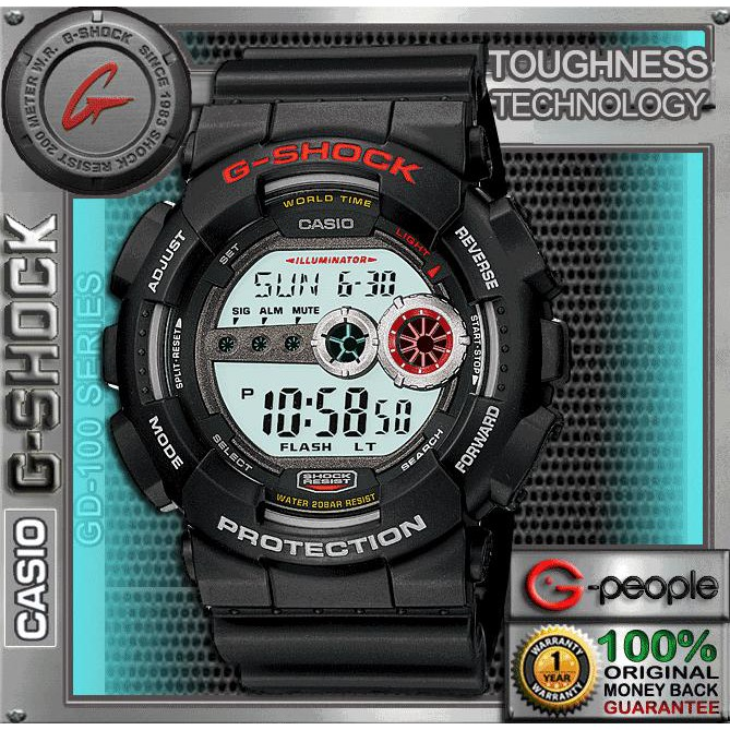 07cc7b2eb CASIO G-SHOCK GD-100-1BDR   GD-100-1B   GD-100-1   GD-100 WATCH 100%  ORIGINAL