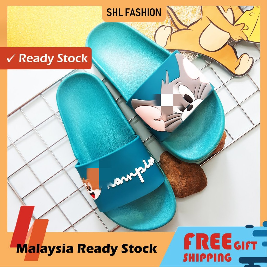 SHL Tomm & Jerryy Cute Women Slippers Colorful Comel Sandal size 36-40【防滑拖鞋】