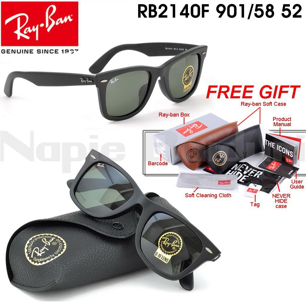 8271e429070 YT Original Ray-Ban Wayfarer RB2140 58 52