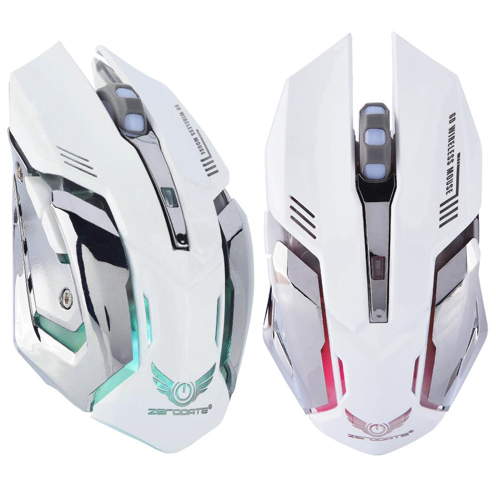 2400DPI Dual-Mode Wireless /& Wired Rechargeable Gaming Mouse ZERODATE X70 Max