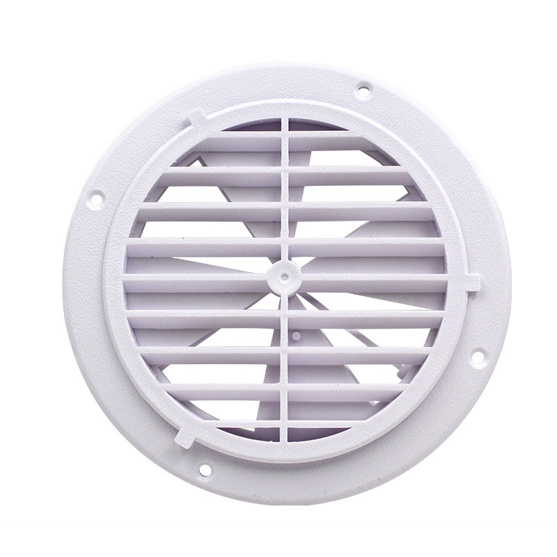 Circle Air Vent Grille Fly Screen Round Ducting Ventilation Cover plastic  with Windy leaf for RV Trailer Caravan Yacht