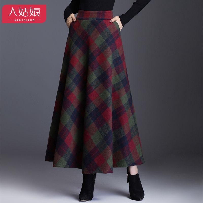 Plus Size Skirt Floral Print Big Swing Midi Elastic Waist Women High Waist