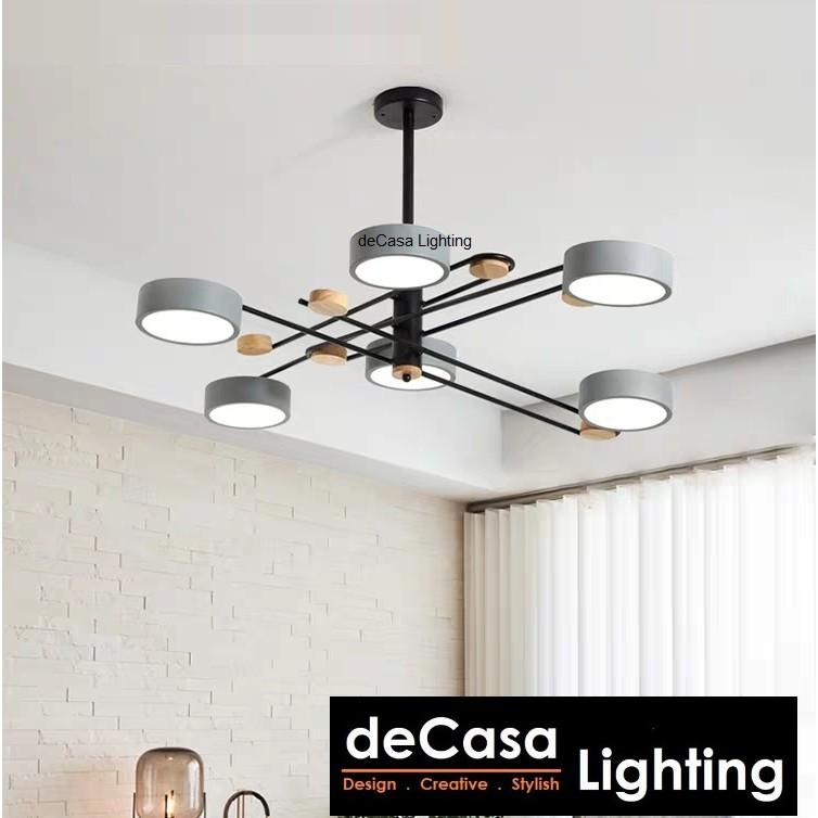 8 / 6 Head Modern Design LED Ceiling Pendant Light Pendant Lamp Ceiling Light Lampu Siling Hiasan 6061