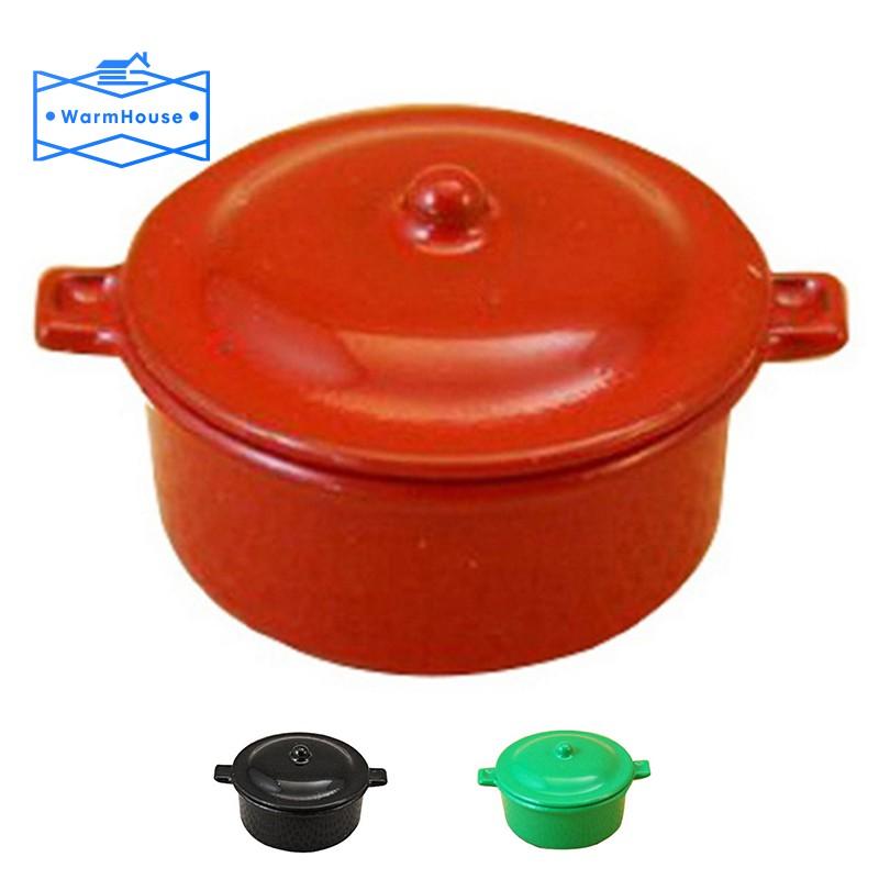 """Dollhouse Miniature Black Dutch Oven with Lid 1:12 Scale Black /""""Cast Iron/"""" Pot"""