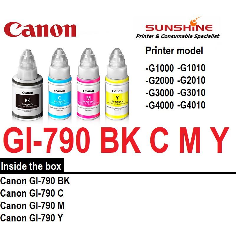 GENUINE CANON GI-790 INK G1000 G2000 G3000 G4000 G1010 G2010 G3010 G4010