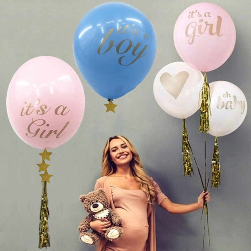 Pink White Printed Its a Girl Its a Boy Balloons for Baby Birthday Party Shower