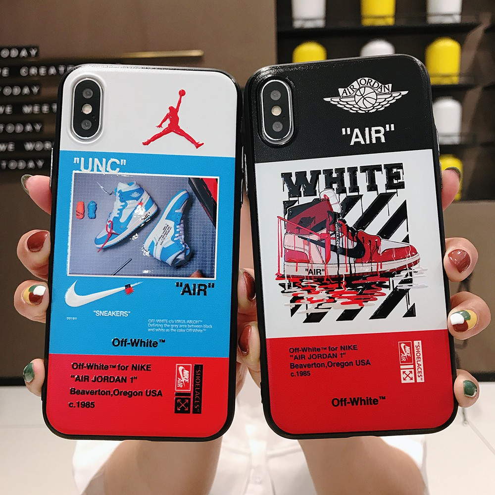 promo code 5a73c cd5e5 Fashion AIR OFF-WHITE Phone Case Cover Kes For iPhone 6 6S 7 8 Plus X XR XS  Max