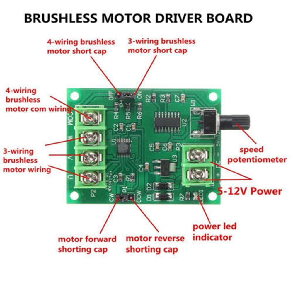 43163 Wires New Hard Motor Brushless Drive Driver Board Controller Circuit Shopee Malaysia