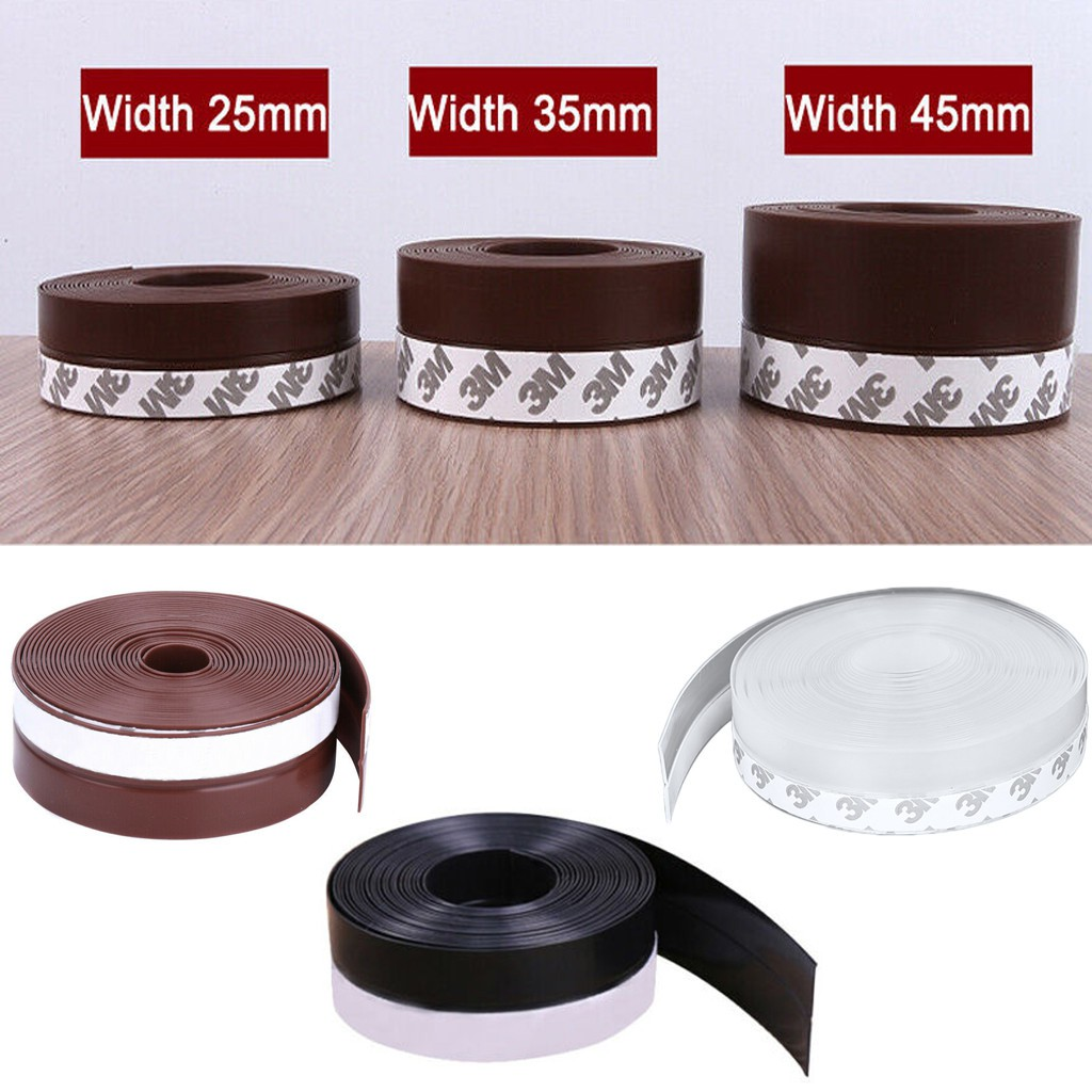 Silicone Sealing Tape Best Door Sealing 1 M Length Multi-Function Sealing Strips Glass Window of Model Steel Door Silicone Seals Tape Over The Bar 25//35//45mm Width
