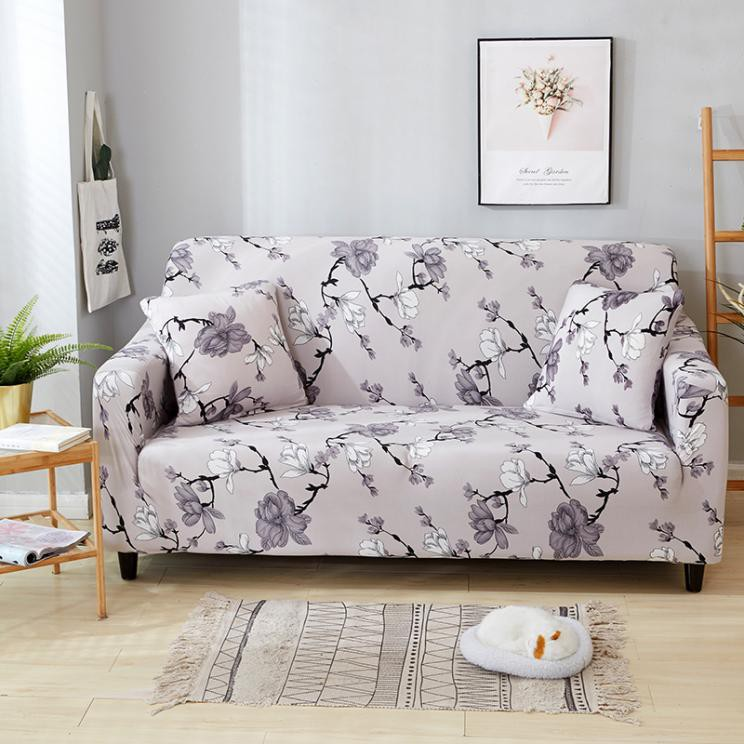 Superb Flower Sofa Cover Elasticity Slipcover 1 2 3 4 Seater Couch Cushions Gmtry Best Dining Table And Chair Ideas Images Gmtryco