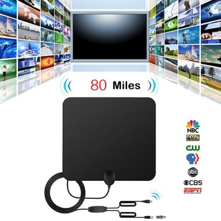 TV Antenna Indoor HD Digital TV Antenna with 80 Miles Long