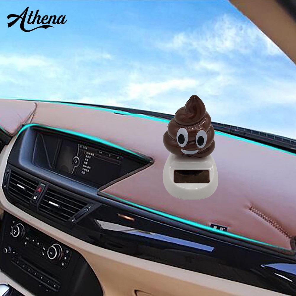 (in stock)Funny Solar Powered Swing Dancing Poo Toy Home Car Gifts