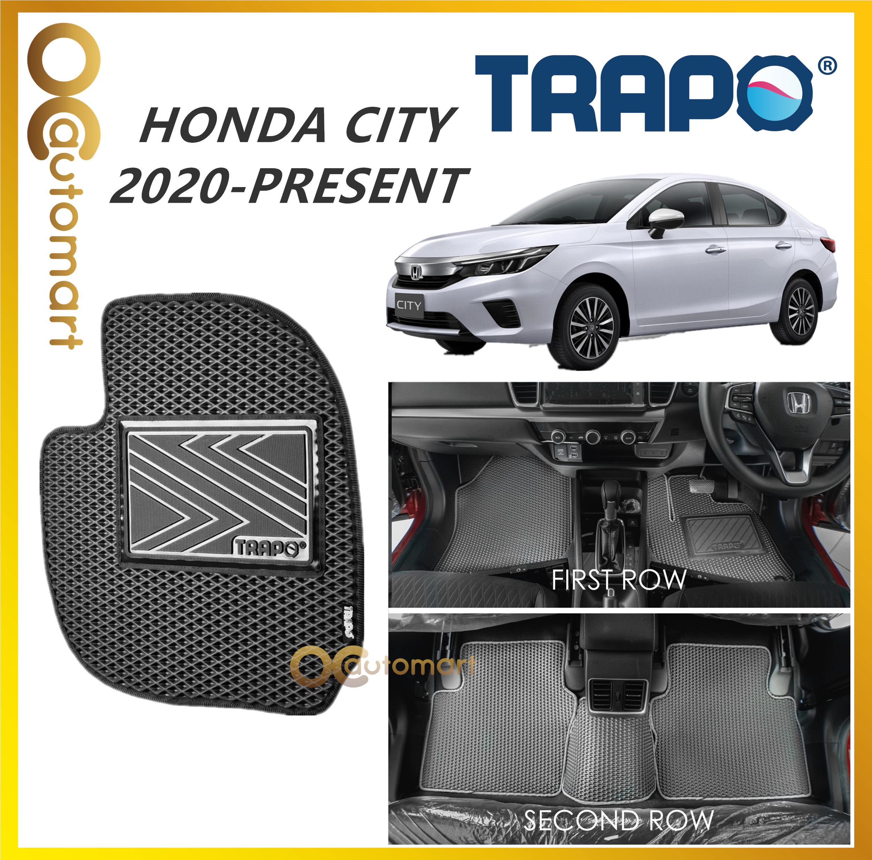 TRAPO Customize Car Floor Mat Honda City 2020 - Present Black Base with Red Grey Blue Black Lining