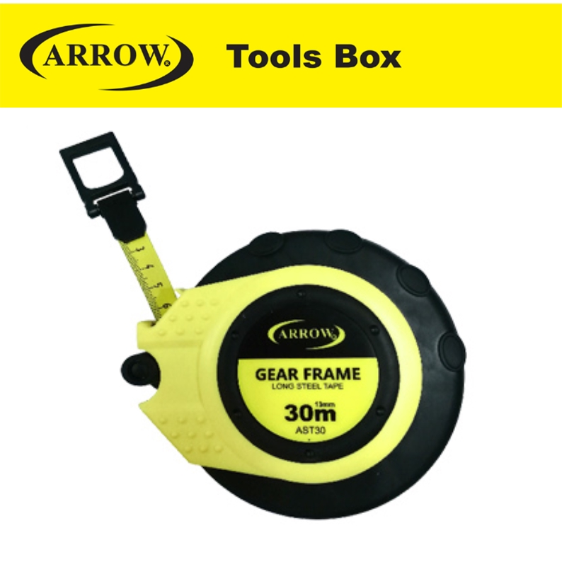 ARROW AST30 LONG STEEL TAPE MEASURE HEAVY DUTY MEASURING TAPE EASY USE SAFETY GOOD QUALITY