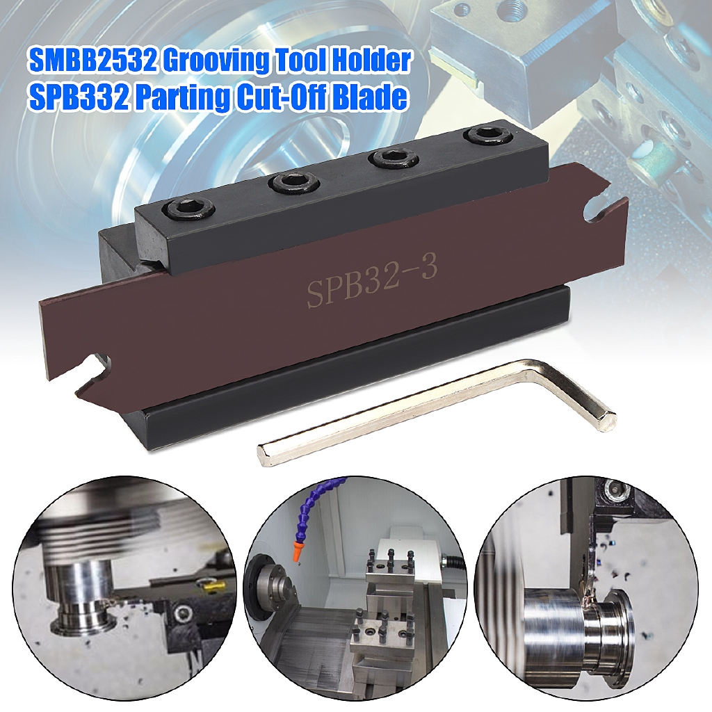 SPB32-3 Blade Grooving Cut-Off Cutter Tool Holder For ZQMX 3N11-1E SP300 GTN-3