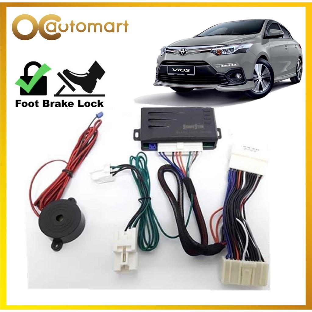 Toyota Vios 2014 - 2017 Brake Lock 2 in 1 System With Buzzer Plug n Play