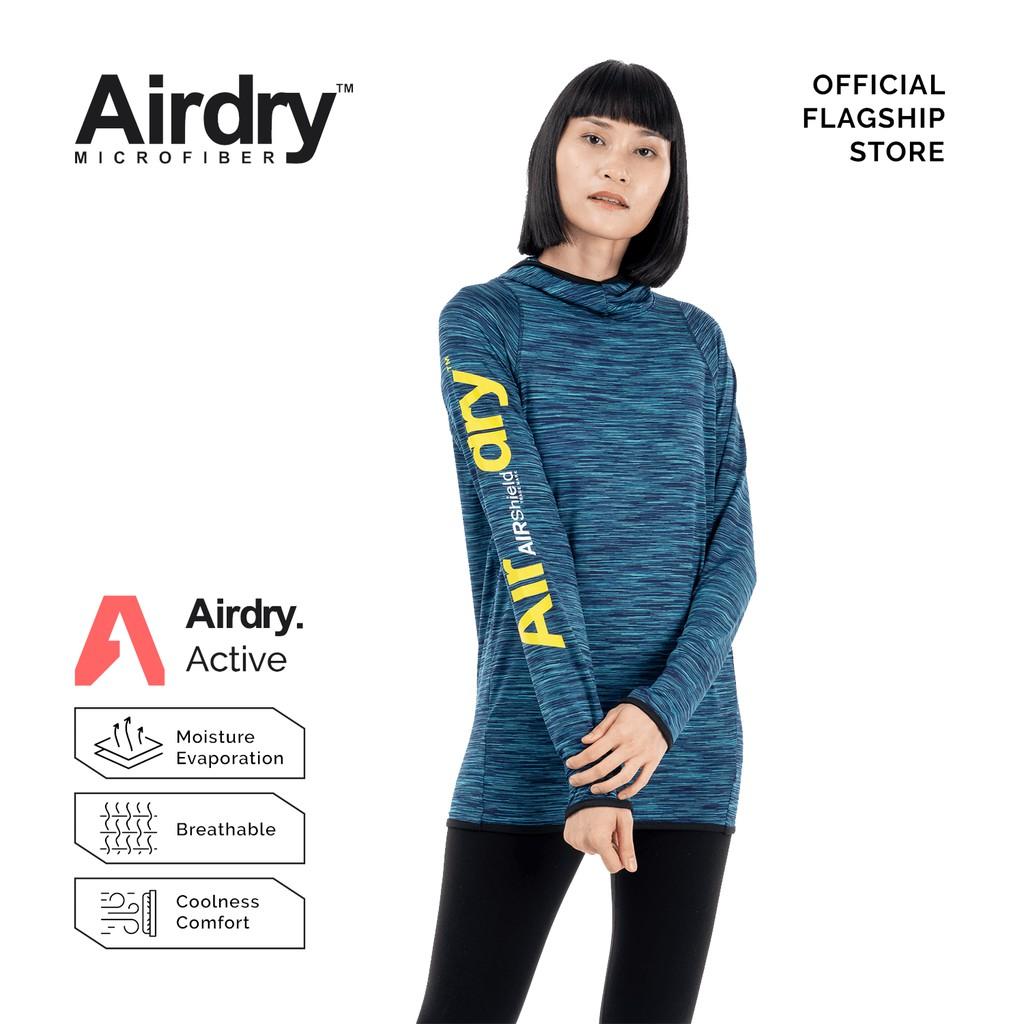 AIRDRY SHIELD Unisex Microfiber Long Sleeve Hoodie  (Turquoise) SH6001