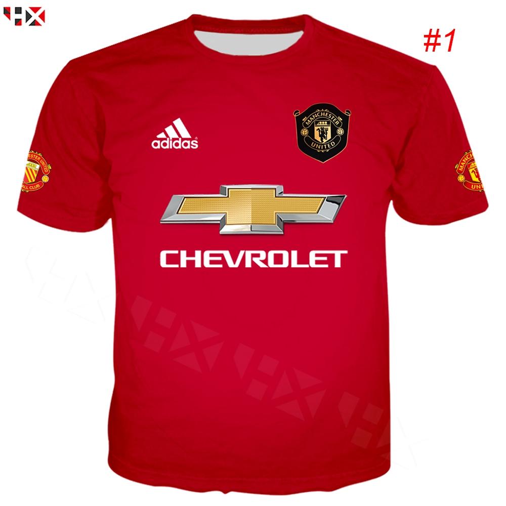 Manchester United T Shirt Tee Top Short Sleeve Football Black Mens adidas