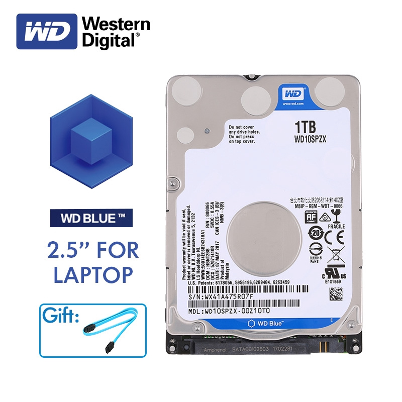 Western Digital WD Blue 2 5'' 1TB/2TB HDD Internal Hard Disk Drive SATA  6Gb/s 5400RPM HD Hard drive